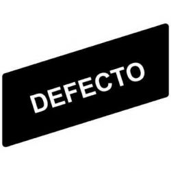 TEE ETIQUETA 8X27MM DEFECTO NEGRA ZBY02434