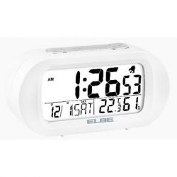 RELOJ DESPERTADOR ELBE RD009 DIGITAL BLANCO