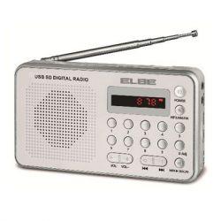 RADIO PORTATIL ELBE RF49 DIGITAL BLANCA LECTOR TAR