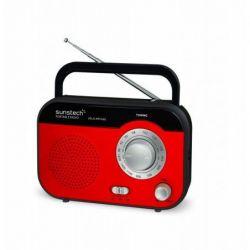 RADIO PORTATIL SUNSTECH RPS560RD PILAS/AC ROJA