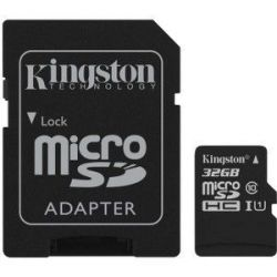 TARJETA MICRO SD 32GB KINGSTON SDCS32GB + ADAPTADOR